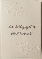 Elegáns borítékos képeslap