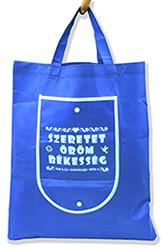 Bevásárló táska - Szeretet, öröm, békesség (kék)